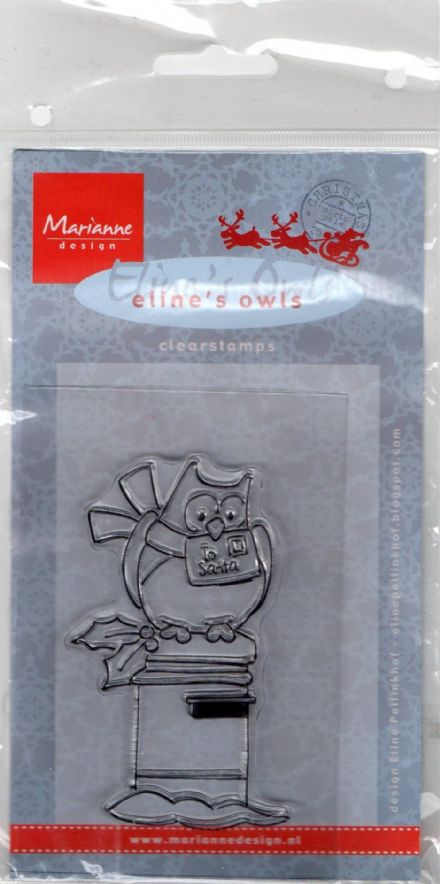 EC0140 ~ OWL ON POSTBOX  ~  Marianne Designs Clear stamp